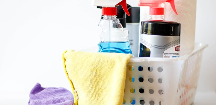 The cleaning can wait until the weekend? Actually, it can't